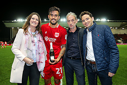 Man of the Match presentation to goalscorer Marlon Pack after Bristol City win 1-0 - Rogan Thomson/JMP - 27/09/2016 - FOOTBALL - Ashton Gate Stadium - Bristol, England - Bristol City v Leeds United - Sky Bet EFL Championship.