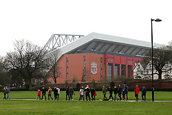 Fans arrive at Anfield Stadium - Mandatory by-line: Matt McNulty/JMP - 08/01/2017 - FOOTBALL - Anfield - Liverpool,  - Liverpool v Plymouth Argyle - Emirates FA Cup third round