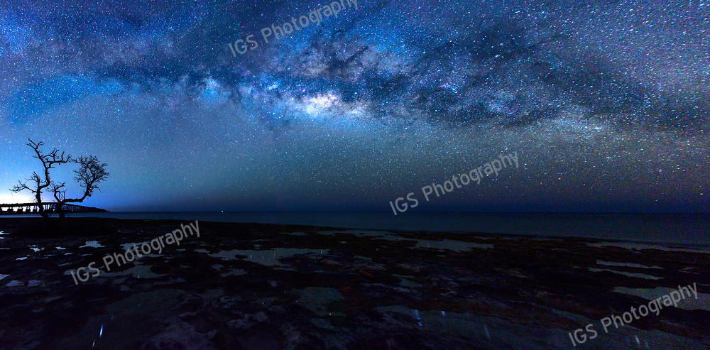 Milky Way Panorama from Summerland Key