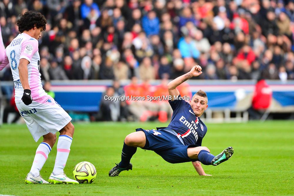 Marco VERRATTI - 18.01.2015 - Paris Saint Germain / Evian Thonon - 21eme journee de Ligue 1<br />Photo : Dave Winter / Icon Sport