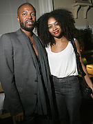l to r: Edward Buchanan and Celia Smith at The VIBE Magazine & Memsor Kamarake and Beverly Smith Salute to Black Men In Fashion ? NY Fashion Week Fall ?08 held Norwood on September 11, 2008