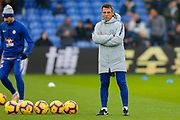 Chelsea assistant manager Gianfranco Zola during the warm up before the Premier League match between Crystal Palace and Chelsea at Selhurst Park, London, England on 30 December 2018.