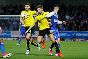 Burton Albion midfielder Luke Murphy (30) and Ipswich Town striker Tom Lawrence (27) during the EFL Sky Bet Championship match between Burton Albion and Ipswich Town at the Pirelli Stadium, Burton upon Trent, England on 14 April 2017. Photo by Richard Holmes.