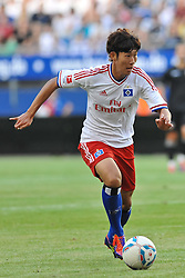 02.08.2011, Imtech Arena, Hamburg, GER, FSP, Hamburger SV (GER) vs Valencia FC (ESP) im Bild Einzelaktion Heung Min Son (Hamburg #15) ..// during friendly match Hamburger SV (GER) vs Valencia FC (ESP) on 2011/08/02, Imtech Arena, Hamburg   EXPA Pictures © 2011, PhotoCredit: EXPA/ nph/  Witke       ****** out of GER / CRO  / BEL ******
