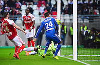 But Corentin TOLISSO - 26.04.2015 - Reims / Lyon - 34eme journee de Ligue 1<br />