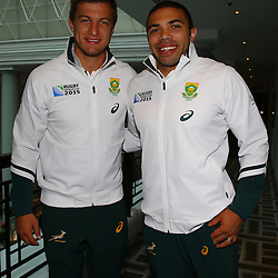 BIRMINGHAM, ENGLAND - SEPTEMBER 21: Bryan Habana with Bryan Habana during the during the South African national rugby team training session at University of Birmingham on September 21, 2015 in Birmingham, England. (Photo by Steve Haag/Gallo Images)