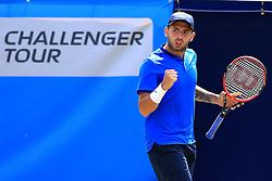 Dan Evans of Great Britain celebrates - Mandatory by-line: Matt McNulty/JMP - 31/05/2016 - TENNIS - Northern Tennis Club - Manchester, United Kingdom - AEGON Manchester Trophy