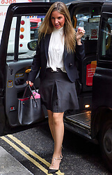 © Licensed to London News Pictures. 25/10/2017. London, UK.  Nathalie Dauriac-Stoebe arrive at the High Court in London where she is claiming unfair treatment while working for billionaire Phones 4U businessman John Caudwell. Photo credit: Ben Cawthra/LNP