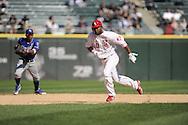 CHICAGO - MAY 13:  Alejandro De Aza #30 of the Chicago White Sox runs the bases against the Kansas City Royals at U.S. Cellular Field in Chicago, Illinois.  The Royals defeated the White Sox 9-1.  (Photo by Ron Vesely)   Subject:   Alejandro De Aza