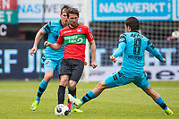 NIJMEGEN- 07-05-2017, NEC - AZ,  Stadion De Goffert, AZ speler Stijn Wuytens, NEC Nijmegen speler Julian von Haacke, AZ speler Joris van Overeem