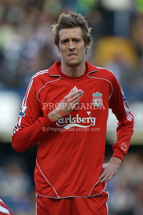 LONDON, ENGLAND - Sunday, February 10, 2008: Liverpool's Peter Crouch before the Premiership match against Chelsea at Stamford Bridge. (Photo by David Rawcliffe/Propaganda)