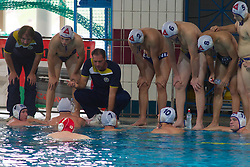 Team AVK Triglav Kranj during water polo match between ASD Vaterpolo Koper and AVK Triglav Kranj in 4rd Round of Final of Slovenian Water polo National Championship, on June 23, 2012 in Olympic pool, Kranj, Slovenia. ASD Koper defeated Triglav Kranj 9-8. (Photo By Grega Valancic / Sportida.com)