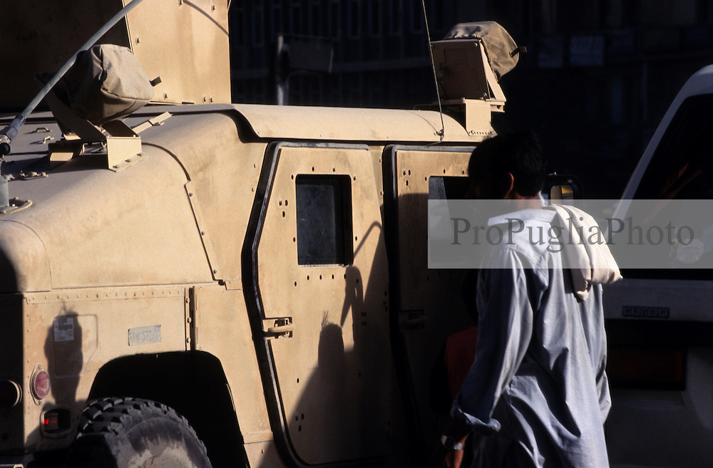 Afghanistan, 23 July 2005.American armored vehicle on  the streets of Kabul