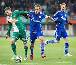 24.01.2015, Ernst Happel Stadion, Wien, AUT, FS Vorbereitung, Fußball Testspiel, SK Rapid Wien vs FC Schalke 04, im Bild Robert Beric, (SK Rapid Wien, #9) und Benedikt Höwedes (FC Schalke 04) // during a international football frindly match between SK Rapid Vienna and FC Schalke 04 at the Ernst Happel Stadium, Vienna, Austria on 2015/01/24. EXPA Pictures © 2015, PhotoCredit: EXPA/ Michael Gruber