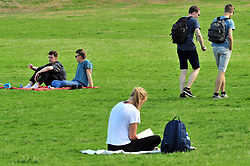 © Licensed to London News Pictures. 13/09/2018<br /> GREENWICH, UK.<br /> Sunny September weather in Greenwich Park, Greenwich.<br /> Photo credit: Grant Falvey/LNP