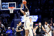 Xavier guard KyKy Tandy (24) shoots during an NCAA college basketball game against Green Bay, Wednesday, Dec. 4, 2019, in Cincinnati. Xavier defeated Green Bay 84-71 (Jason Whitman/Image of Sport)