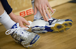 Shoes at Open training session for the public of Slovenian handball National Men team before European Championships Austria 2010, on December 27, 2009, in Terme Olimia, Podcetrtek, Slovenia.  (Photo by Vid Ponikvar / Sportida)