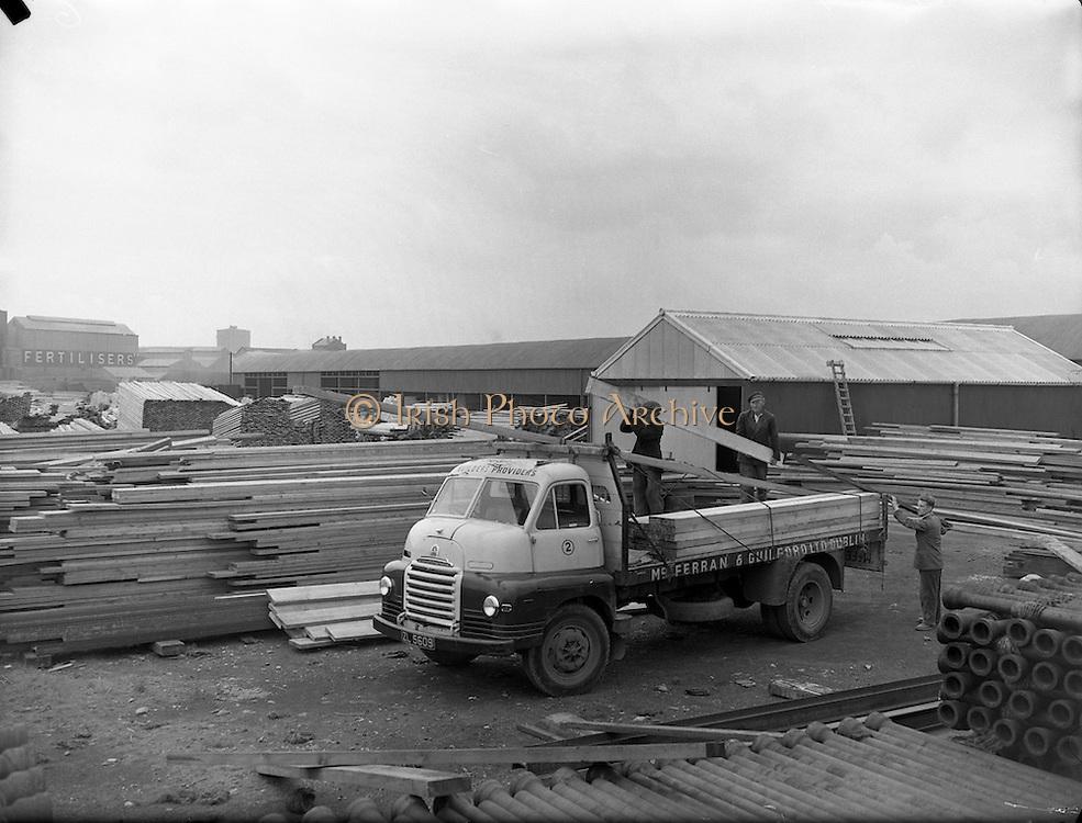 15/09/1954<br /> 09/15/1954<br /> 15 September 1954<br /> <br /> McFerran & Guilford Ltd Builders Supplies, Tara St., Dublin - Timber
