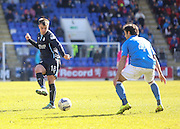 Dundee's Paul McGowan and St Johnstone's Simon Lappin - St Johnstone v Dundee, SPFL Premiership at McDiarmid Park<br /> <br />  - &copy; David Young - www.davidyoungphoto.co.uk - email: davidyoungphoto@gmail.com