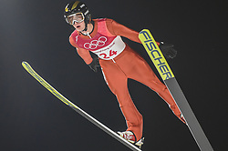 February 10, 2018 - Pyeonchang, Gangwon, South Korea - Kevin Bickner of United States at mens normal hill final at 2018 Pyeongchang winter olympics at Alpensia Ski Jumping Centre, Pyeongchang, South Korea on February 10, 2018. Ulrik Pedersen/Nurphoto  (Credit Image: © Ulrik Pedersen/NurPhoto via ZUMA Press)