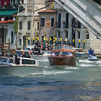 VENICE, ITALY - MAY 08: Pope Benedict XVI arrives at Riapto Bridge the Gran Canal on May 8, 2011 in Venice, Italy. Pope Benedict XVI is visiting Venice, some 26 years after predecessor Pope John Paul II last visited city.   (Photo by Marco Secchi/Getty Images)