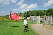 Colonial American reenactment. Fort Necessity National Battlefield Pennsylvannia