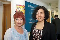 21/05/2013 Repro free. Regina Flynn SONKE Choir and Helen Webb Sonke at the launch of Africa Day 2013 at Galway City Museum by Galway City Council and Irish Aid  . ..Africa Day falls on 25th May each year, with events taking place around the country from 20th-27th May.  It is an initiative of the African Union, and aims to celebrate African diversity and success and the cultural and economic potential of the continent.  In Ireland, events to mark Africa Day are supported by Irish Aid, the Government's programme for overseas development and Galway City Council.. .The events planned by Galway City Council will take place on 21st May and from 24th to 26th May.  Galway City Council are launching Africa Day 2013 by Mayor of Galway City Cllr Terry O'Flaherty on Tuesday 21st May @ 11:00 a.m.at the Galway City Museum with inputs from the African Ambassadors Network, Africian Film Festival, NUIG and music by South Africian Choirs. Picture:Andrew Downes