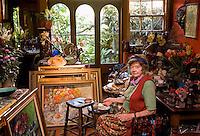 Artist Margaret Olley in her Paddington studio.
