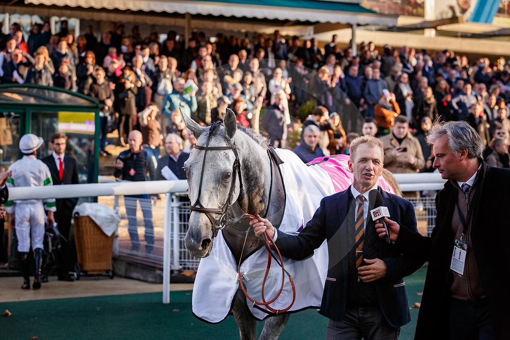 Bipolaire (T. Gueguen) wins Prix la Haye Jousselin, Gr. 1, Steeplechase, Auteuil, France 05/11/2017, photo: Zuzanna Lupa