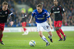 CARDIFF, WALES - Tuesday, February 1, 2011: Cardiff City Craig Bellamy in action against Reading during the Football League Championship match at the Cardiff City Stadium. (Photo by Gareth Davies/Propaganda)