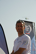13.01.2012, Abu Dhabi. Volvo Ocean Race, frank cammas skipper of groupama sailing team, 2ns place in abu dhabi in port race