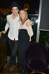 HUGO HEATHCOTE and TORI COOK at a party to celebrate the Astley Clarke & Theirworld Charitable Partnership held at Mondrian London, Upper Ground, London on 10th March 2015.