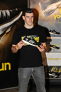 27.FEBRUARY.2013. LONDON<br /> <br /> TOTTENHAM HOTSPUR AND WELSH INTERNATIONAL FOOTBALLER GARETH BALE ATTENDS THE ADDIDAS STORE ON OXFORD STREET IN LONDON TO MEET AND GREET FANS FOR THE LAUNCH OF THEIR NEW RUNNING TRAINERS.<br /> <br /> BYLINE: EDBIMAGEARCHIVE.CO.UK<br /> <br /> *THIS IMAGE IS STRICTLY FOR UK NEWSPAPERS AND MAGAZINES ONLY*<br /> *FOR WORLD WIDE SALES AND WEB USE PLEASE CONTACT EDBIMAGEARCHIVE - 0208 954 5968*
