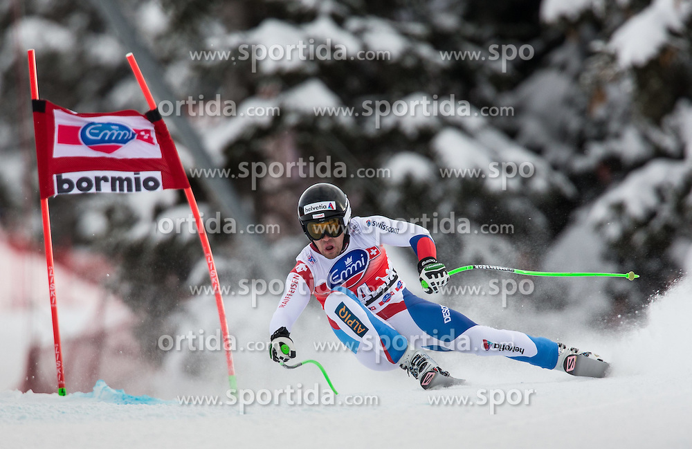 29.12.2013, Stelvio, Bormio, ITA, FIS Ski Weltcup, Bormio, Abfahrt, Herren, im Bild Sandro Viletta (SUI) // Sandro Viletta of Switzerland in action during mens downhill of the Bormio FIS Ski Alpine World Cup at the Stelvio Course in Bormio, Italy on 2013/12/29. EXPA Pictures © 2013, PhotoCredit: EXPA/ Johann Groder