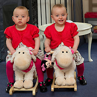 31.3.2011. Record Feature.<br /> 18 month old twins Daisy,left, and Sky Brake in  their Dunkeld home.<br /> COPYRIGHT: Perthshire Picture Agency.<br /> Tel. 01738 623350 / 07775 852112.