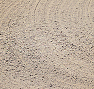 close up of sand from golf course bunker