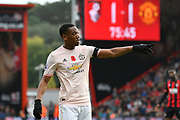 Anthony Martial (11) of Manchester United during the Premier League match between Bournemouth and Manchester United at the Vitality Stadium, Bournemouth, England on 3 November 2018.