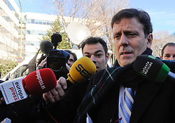Criminal Court Case Operation Puerto.  Doctor Eufemiano Fuentes leaving the court, Madrid, Spain. Photo by Eduardo Dieguez / DyD Fotografos / i-Images..SPAIN OUT