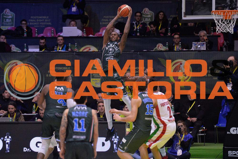 Carter Robert Lawrence<br /> Olimpia EA7 Emporio Armani Milano vs Enel Brindisi<br /> LegaBasket Final Eight Coppa Italia Poste Mobile 2017<br /> Rimini 16/02/2017<br /> Foto Ciamillo-Castoria/ I.Mancini
