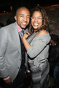 l to r: Kevin Liles and Danyel Smith at The Vibe Magazine private reception in honor of Grammy Award winning Superstar artist and actor, T.I held at The Eldrige on February 9, 2009 in New York City