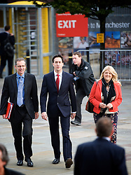 Ed Miliband arriving during the Labour Party Conference in Manchester, Monday October 1 2012, Photo by Elliott Franks / i-Images