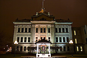 Wisconsin USA, Green Bay, WI night shot of the courthouse November 2006