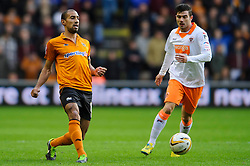 Wolves Midfielder Karl Henry (ENG) passes during the first half of the match - Photo mandatory by-line: Rogan Thomson/JMP - Tel: Mobile: 07966 386802 26/01/2013 - SPORT - FOOTBALL - Molineux Stadium - Wolverhampton. Wolverhampton Wonderers v Blackpool - npower Championship.
