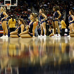 Feb 27, 2016; New Orleans, LA, USA; The New Orleans Pelicans dance team performs during the first half of a game against the Minnesota Timberwolves at the Smoothie King Center. Mandatory Credit: Derick E. Hingle-USA TODAY Sports