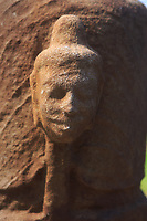 A stone portrait excavated from the ruins of My Son Sanctuary, Qang Nam Province, Vietnam.