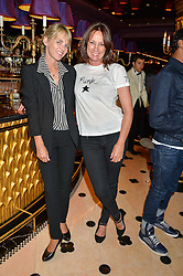 Left to right, LUCINDA MELLOR and TRICIA RONANE at a party to celebrate Pam Hogg receiving an honorary Doctorate from Glasgow University held at Park Chinois, 17 Berkeley Street, London on 11th July 2016.