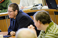 Seminary students listen during a classroom discussion at Concordia Theological Seminary on Monday, Jan. 20, 2014, in Fort Wayne, Ind. LCMS Communications/ Erik M. Lunsford