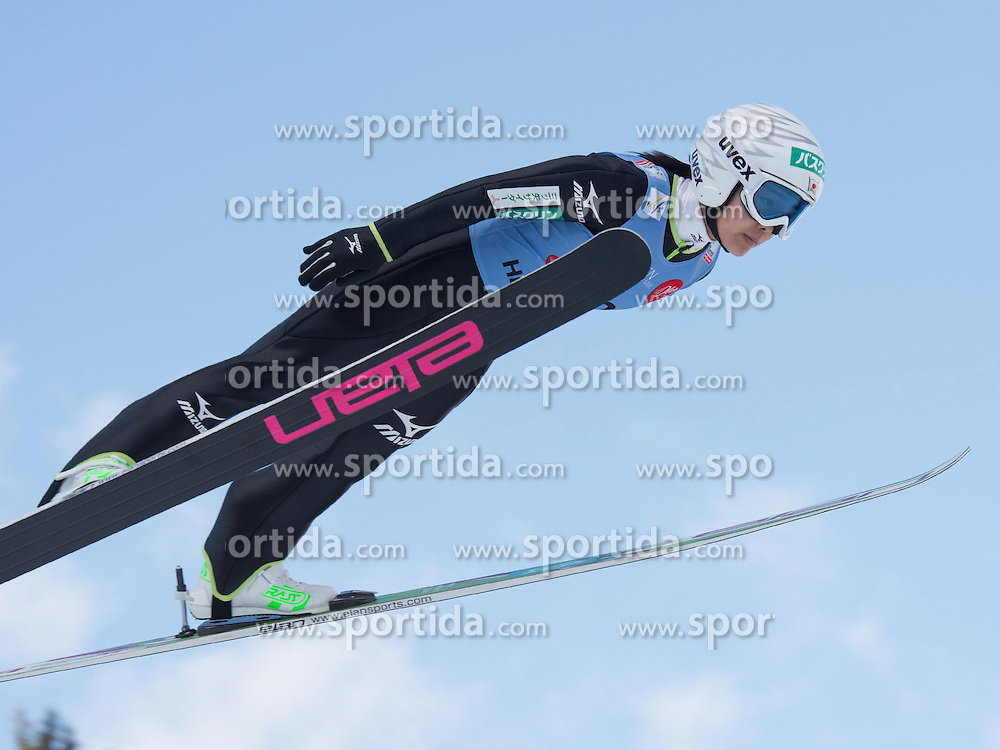 31.01.2015, Energie AG Skisprung Arena, Hinzenbach, AUT, FIS Ski Sprung, FIS Ski Jumping World Cup Ladies, Hinzenbach, Wettkampf im Bild Sara Takanashi (JPN) // during FIS Ski Jumping World Cup Ladies at the Energie AG Skisprung Arena, Hinzenbach, Austria on 2015/01/31. EXPA Pictures © 2015, PhotoCredit: EXPA/ Reinhard Eisenbauer