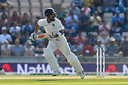 Virat Kohli (captain) of India running while batting during the 4th day of the 4th SpecSavers International Test Match 2018 match between England and India at the Ageas Bowl, Southampton, United Kingdom on 2 September 2018.