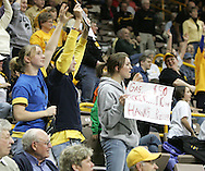 08 February 2007: An Iowa fan holds up a sign during Iowa's 66-49 win over Michigan at Carver-Hawkeye Arena in Iowa City, Iowa on February 8, 2007.